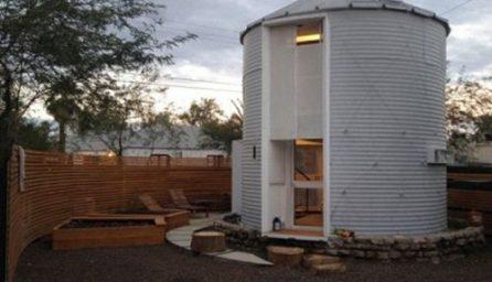 Casa moderna construita din silozuri de cereale