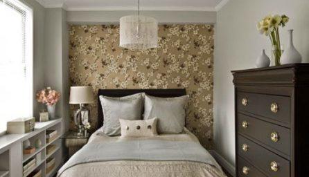 Tapet pentru un dormitor mic: idei de amenajare