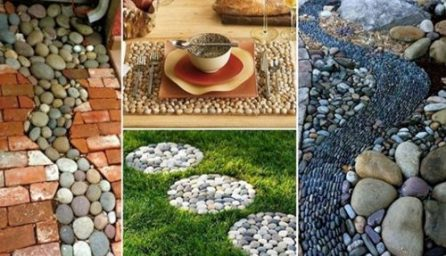 Idei de decorare cu pietre si pietricele pentru gradina