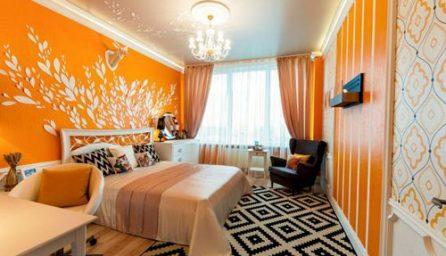 Dormitoare moderne 2019 in tonuri portocaliu