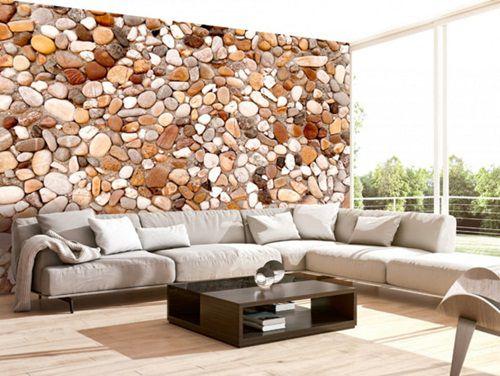 Tapet modern care imita piatra
