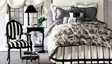 Interior elegant in alb si negru