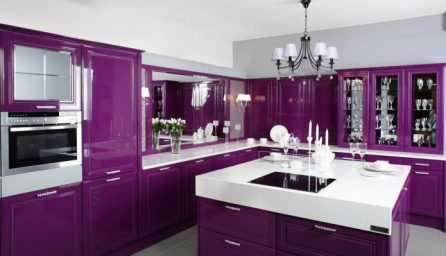 Bucatarii la moda de culoare violet