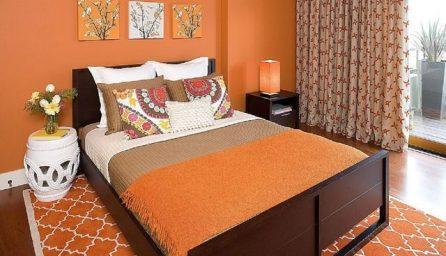 Dormitoare la moda decorate in portocaliu