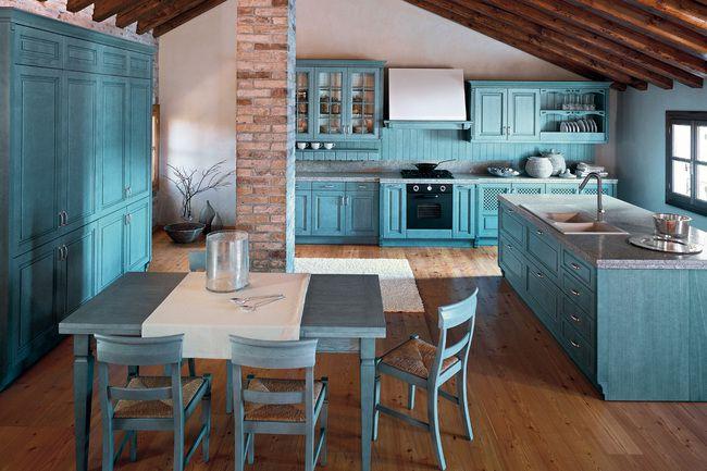 Idei atractive pentru bucatarii moderne in albastru